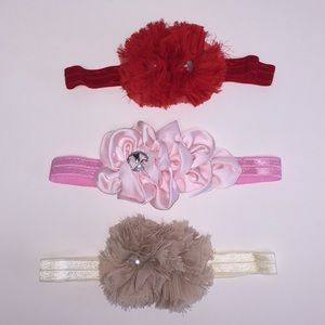 Other - Set of three new baby girl headband